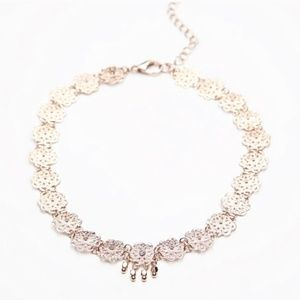 New Free People Lexie Rose Delicate Choker